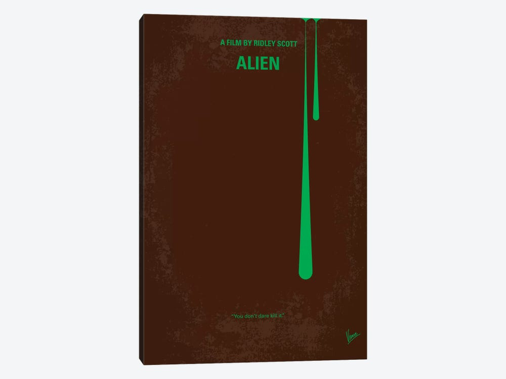 Alien Minimal Movie Poster by Chungkong 1-piece Canvas Print