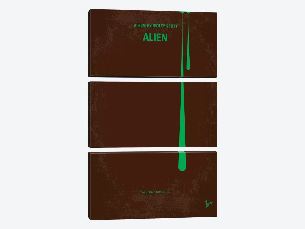 Alien Minimal Movie Poster by Chungkong 3-piece Canvas Print
