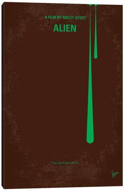 Alien Minimal Movie Poster Canvas Art Print