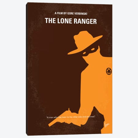 The Lone Ranger Minimal Movie Poster Canvas Print #CKG211} by Chungkong Canvas Artwork