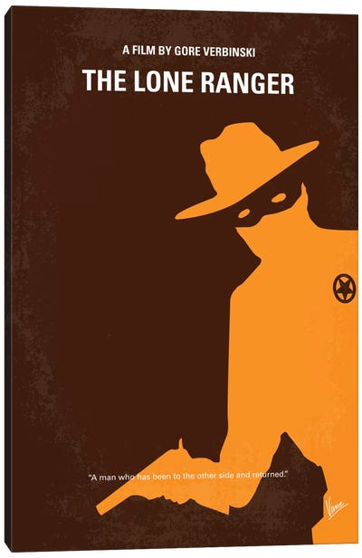 The Lone Ranger Minimal Movie Poster Canvas Art Print