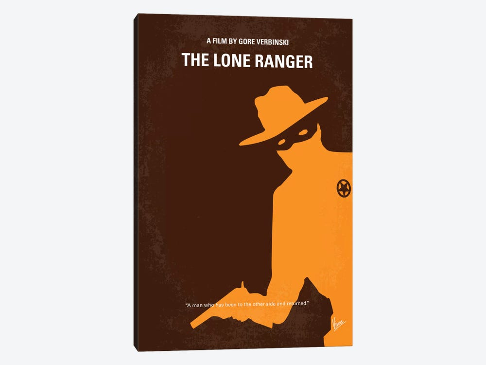 The Lone Ranger Minimal Movie Poster by Chungkong 1-piece Canvas Art