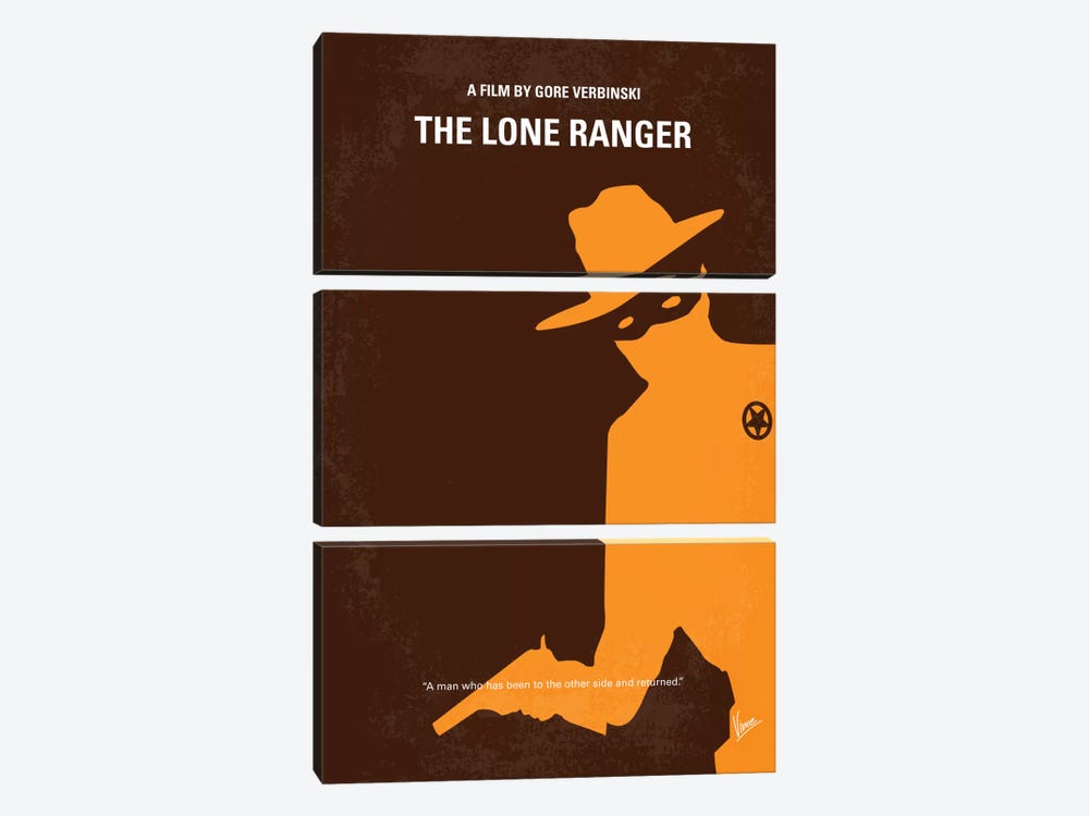 The Lone Ranger Minimal Movie Poster by Chungkong 3-piece Canvas Art