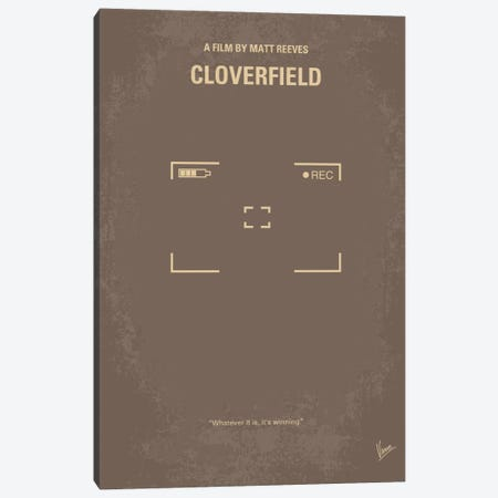 Cloverfield Minimal Movie Poster Canvas Print #CKG212} by Chungkong Canvas Art