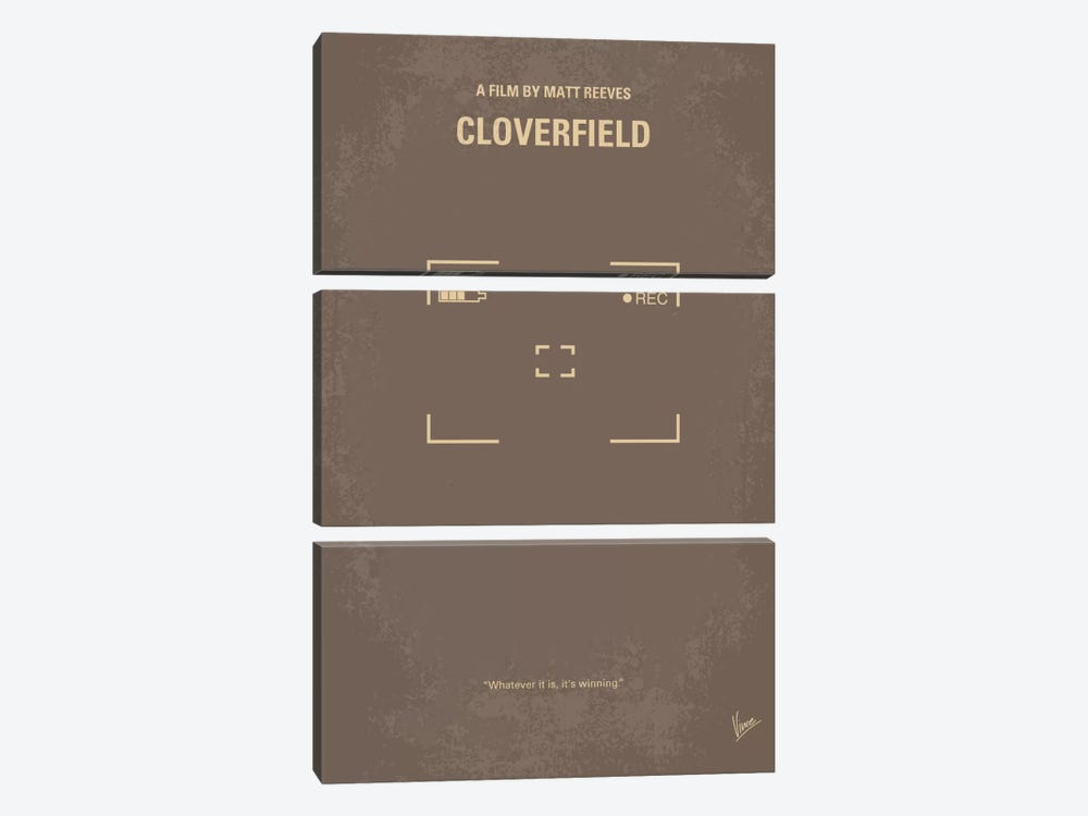 Cloverfield Minimal Movie Poster by Chungkong 3-piece Art Print