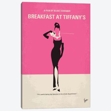 Breakfast At Tiffany's Minimal Movie Poster Canvas Print #CKG213} by Chungkong Canvas Wall Art