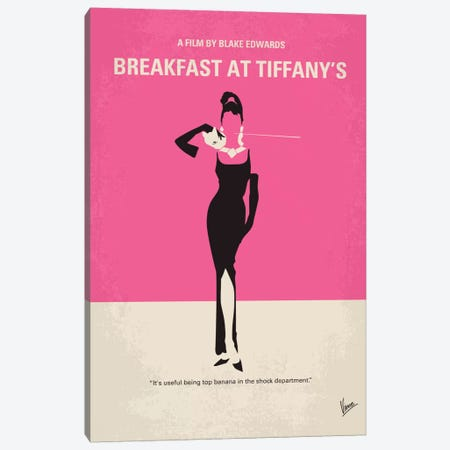 Breakfast At Tiffany's Minimal Movie Poster Canvas Print #CKG213} by Chungkong Canvas Wall Art