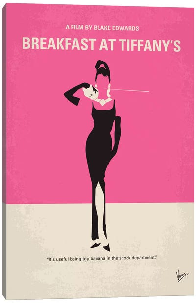 Breakfast At Tiffany's Minimal Movie Poster Canvas Art Print