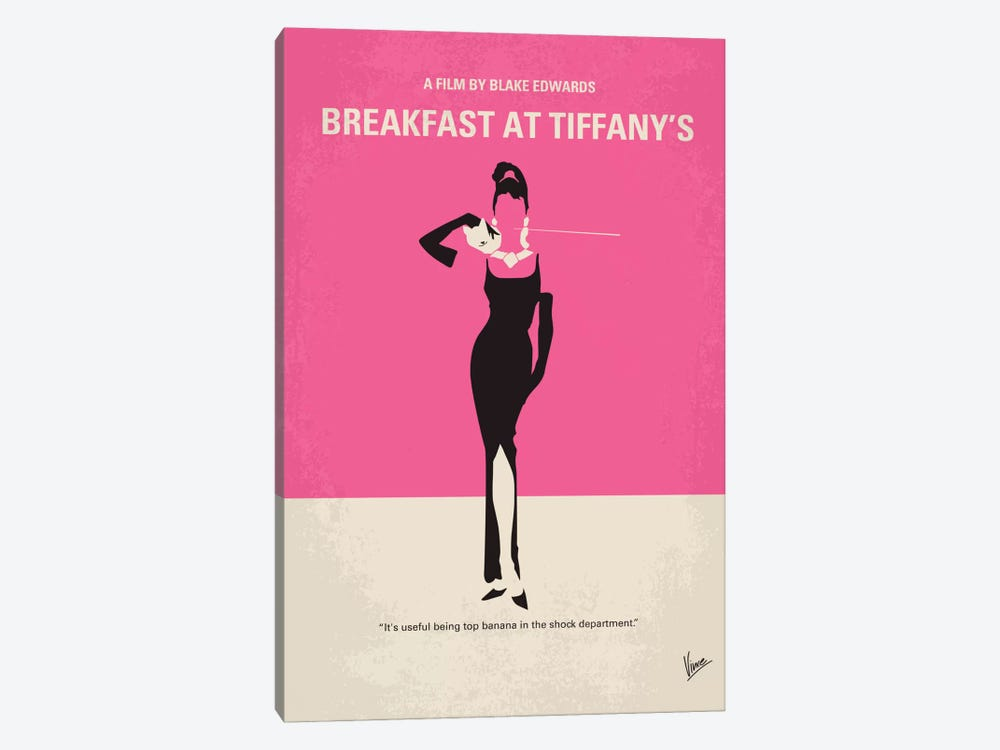 Breakfast At Tiffany's Minimal Movie Poster by Chungkong 1-piece Canvas Artwork