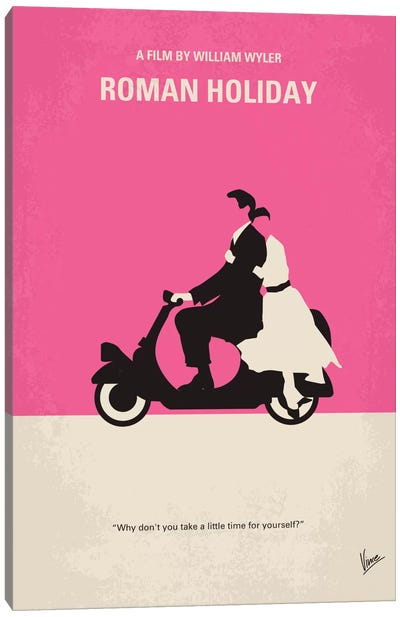 Roman Holiday Minimal Movie Poster Canvas Art Print