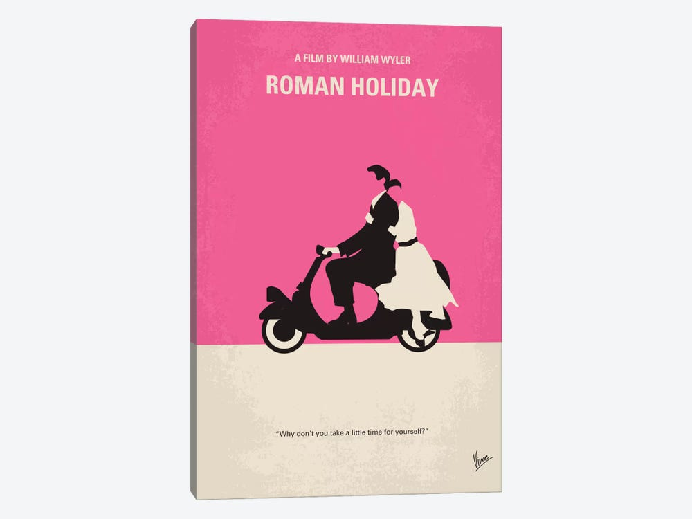 Roman Holiday Minimal Movie Poster by Chungkong 1-piece Art Print