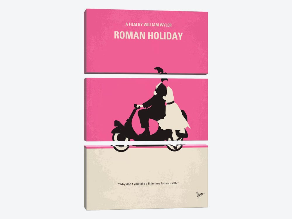 Roman Holiday Minimal Movie Poster by Chungkong 3-piece Art Print