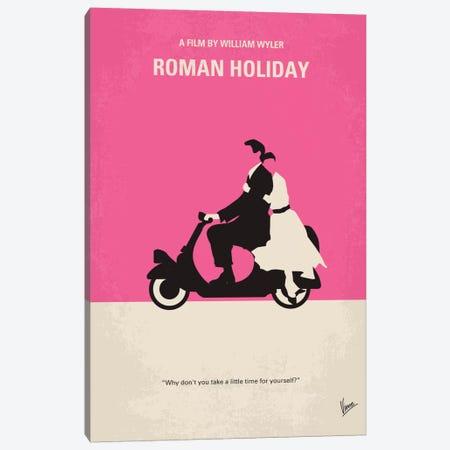 Roman Holiday Minimal Movie Poster Canvas Print #CKG214} by Chungkong Canvas Art Print