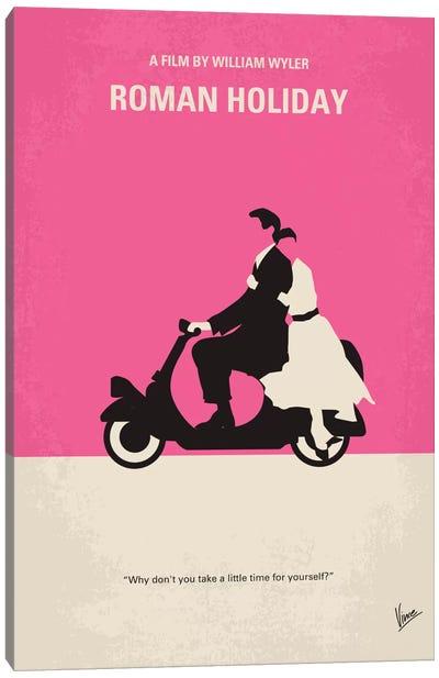 Roman Holiday Minimal Movie Poster Canvas Art Print