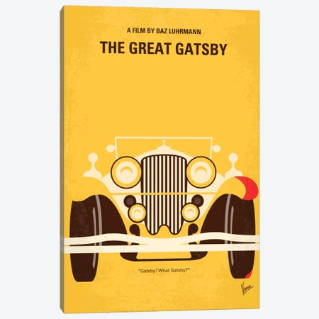 The Great Gatsby Minimal Movie Poster Canvas Print #CKG215} by Chungkong Art Print