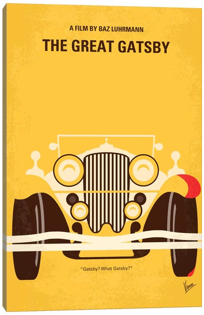 The Great Gatsby Minimal Movie Poster Canvas Art Print