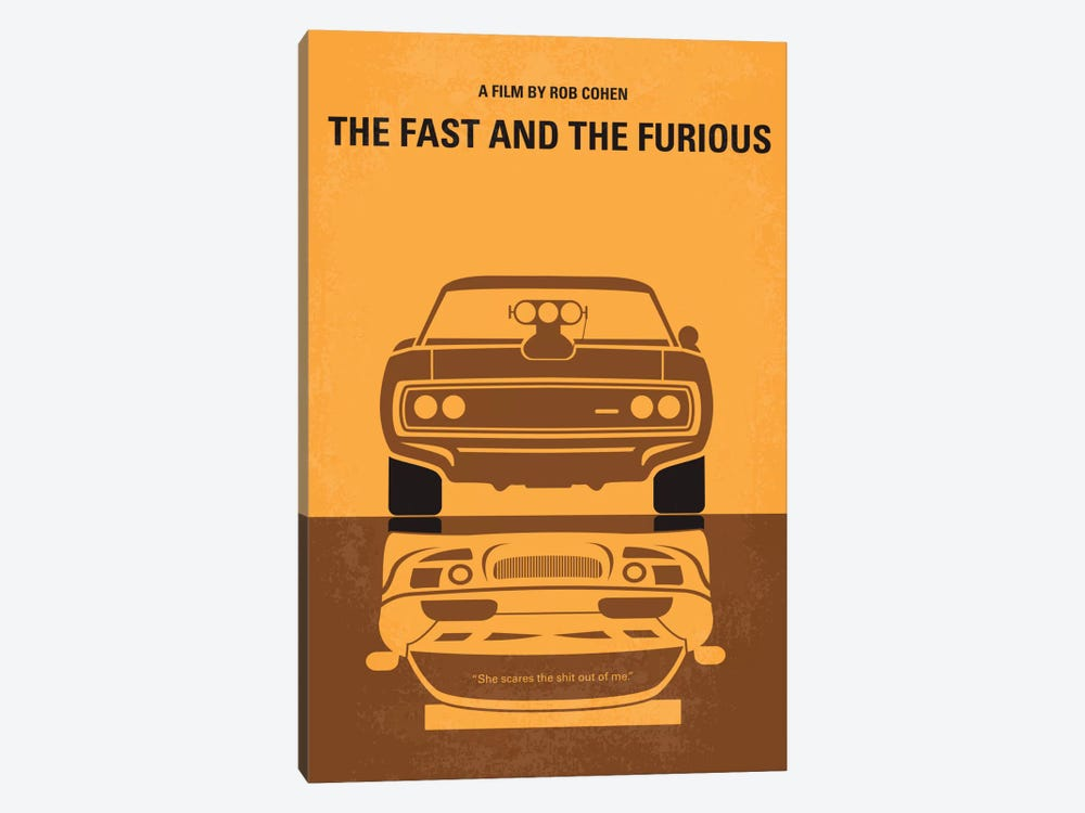 The Fast And The Furious Minimal Movie Poster by Chungkong 1-piece Canvas Art Print