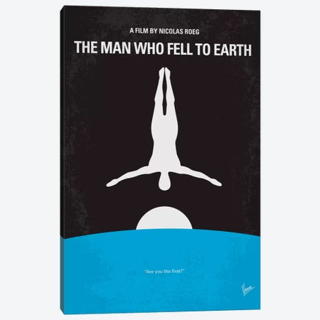 The Man Who Fell To Earth Minimal Movie Poster Canvas Print #CKG217} by Chungkong Canvas Print