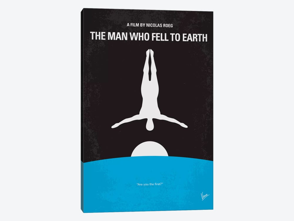 The Man Who Fell To Earth Minimal Movie Poster by Chungkong 1-piece Canvas Wall Art