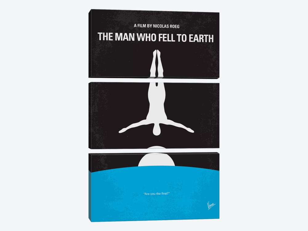 The Man Who Fell To Earth Minimal Movie Poster by Chungkong 3-piece Canvas Wall Art