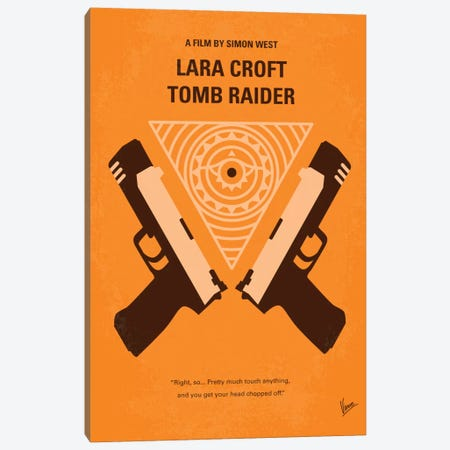 Lara Croft: Tomb Raider Minimal Movie Poster Canvas Print #CKG218} by Chungkong Canvas Art