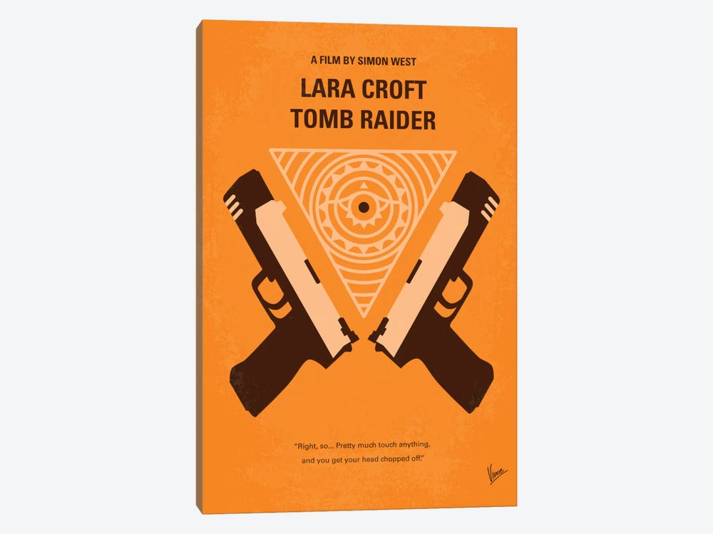 Lara Croft: Tomb Raider Minimal Movie Poster by Chungkong 1-piece Art Print