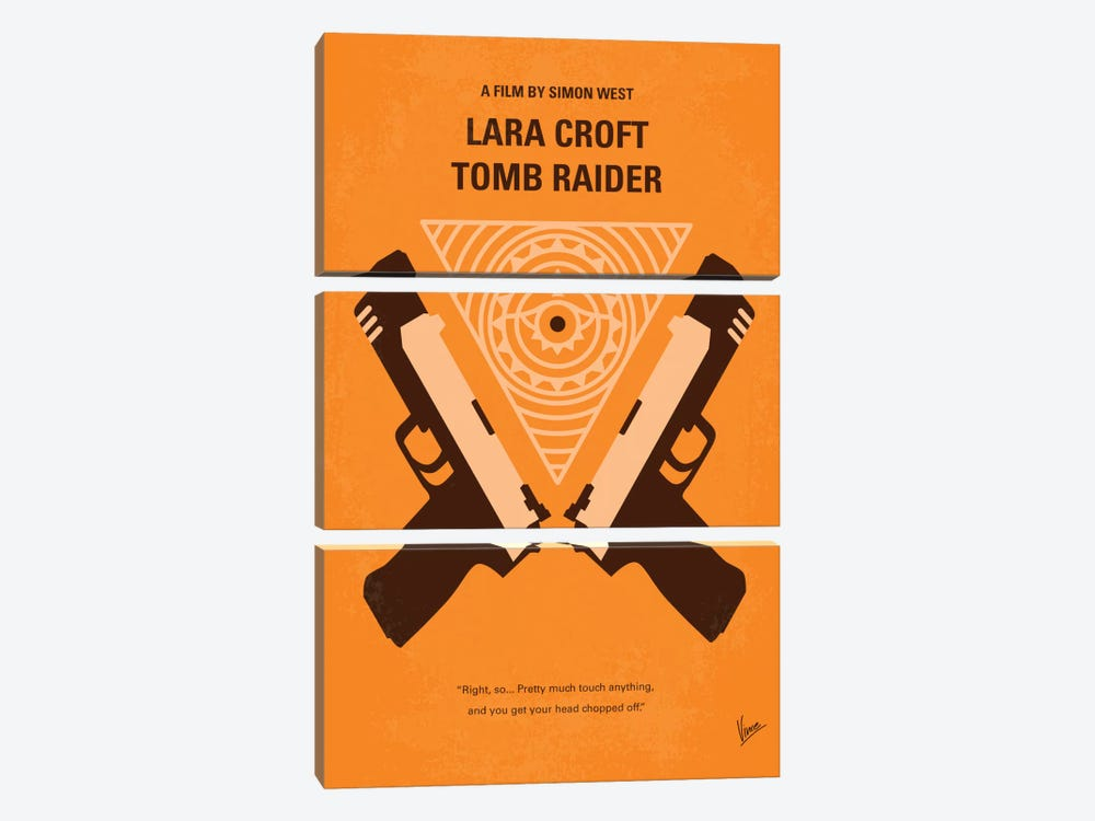 Lara Croft: Tomb Raider Minimal Movie Poster by Chungkong 3-piece Art Print