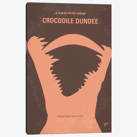 Crocodile Dundee Minimal Movie Poster Canvas Print #CKG219} by Chungkong Canvas Art