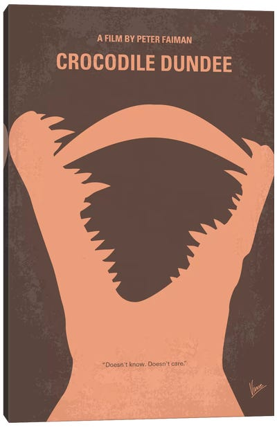 Crocodile Dundee Minimal Movie Poster Canvas Art Print