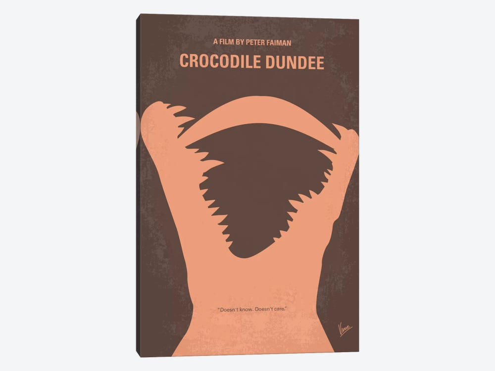 Crocodile Dundee Minimal Movie Poster by Chungkong 1-piece Canvas Wall Art