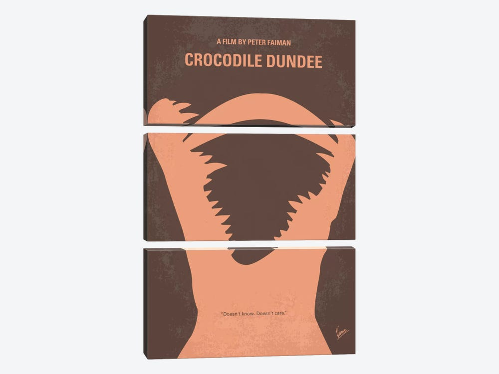Crocodile Dundee Minimal Movie Poster by Chungkong 3-piece Canvas Art