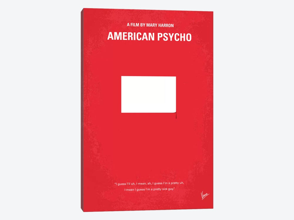 American Psycho Minimal Movie Poster by Chungkong 1-piece Canvas Artwork