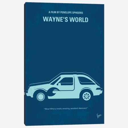 Wayne's World Minimal Movie Poster Canvas Print #CKG220} by Chungkong Art Print