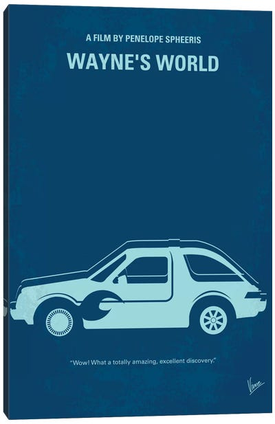 Wayne's World Minimal Movie Poster Canvas Art Print