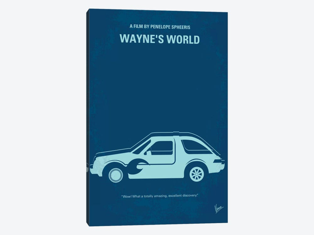 Wayne's World Minimal Movie Poster by Chungkong 1-piece Canvas Wall Art