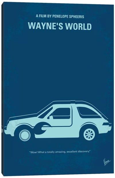 Wayne's World Minimal Movie Poster Canvas Art Print