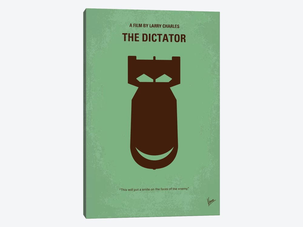 The Dictator Minimal Movie Poster by Chungkong 1-piece Canvas Art Print