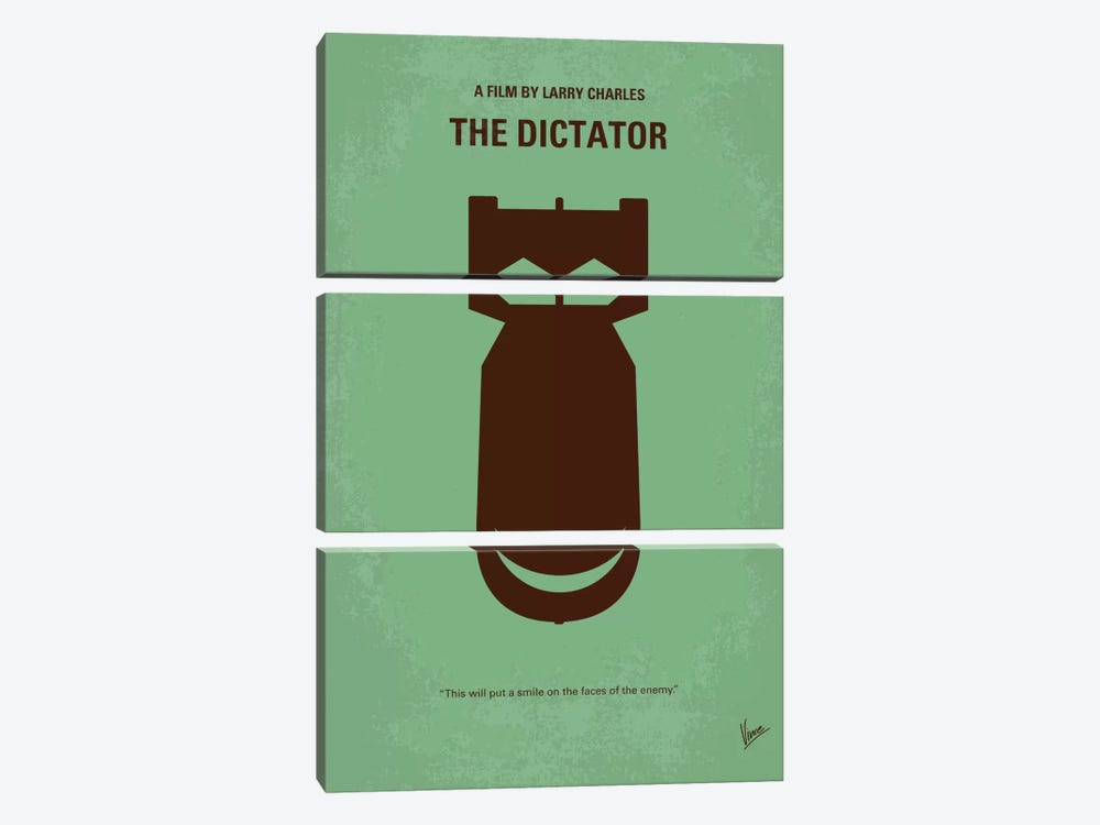 The Dictator Minimal Movie Poster by Chungkong 3-piece Art Print