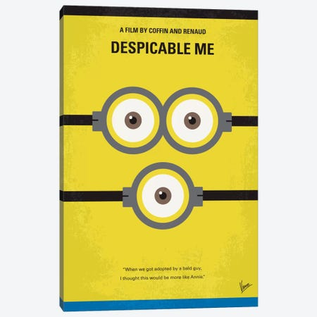 Despicable Me Minimal Movie Poster Canvas Print #CKG222} by Chungkong Canvas Print