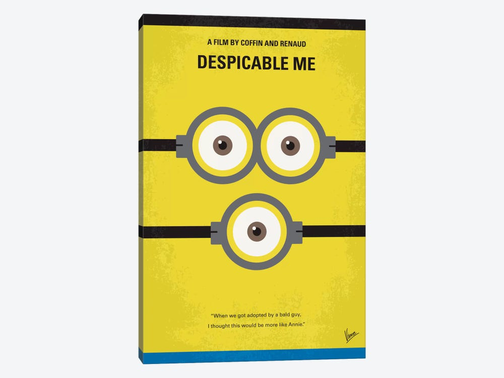 Despicable Me Minimal Movie Poster by Chungkong 1-piece Canvas Artwork