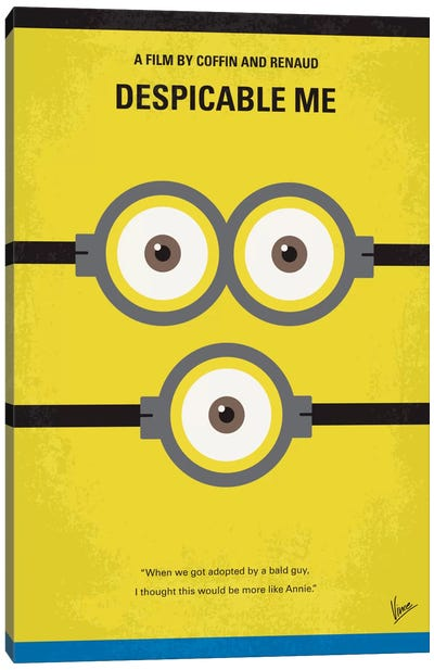 Despicable Me Minimal Movie Poster Canvas Art Print