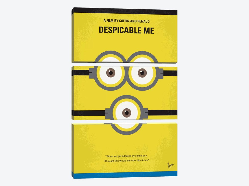 Despicable Me Minimal Movie Poster by Chungkong 3-piece Canvas Art