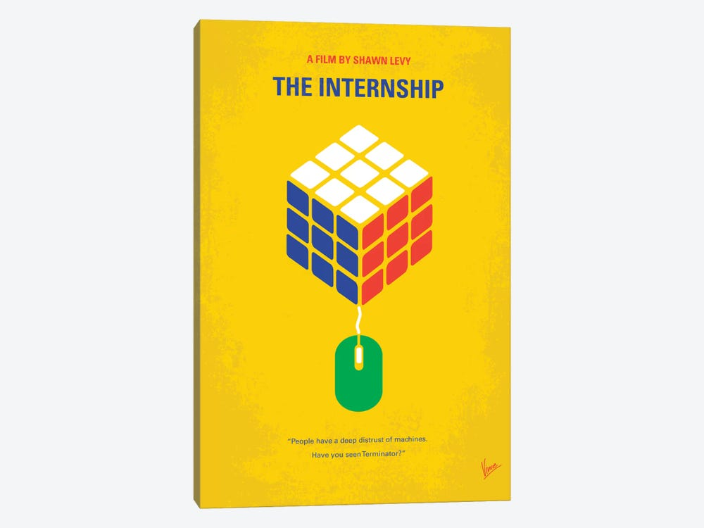 The Internship Minimal Movie Poster by Chungkong 1-piece Canvas Artwork