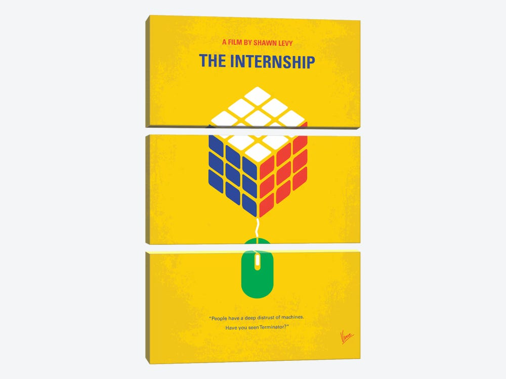 The Internship Minimal Movie Poster by Chungkong 3-piece Canvas Wall Art