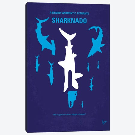 Sharknado Minimal Movie Poster Canvas Print #CKG225} by Chungkong Canvas Wall Art