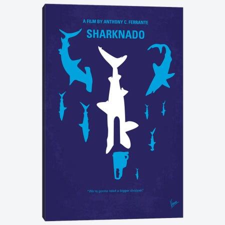 Sharknado Minimal Movie Poster Canvas Print #CKG225} by Chungkong Canvas Wall Art