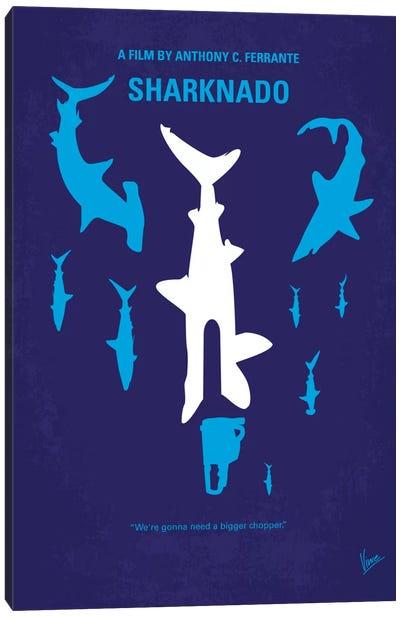 Sharknado Minimal Movie Poster Canvas Art Print