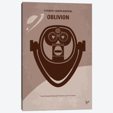 Oblivion Minimal Movie Poster Canvas Print #CKG226} by Chungkong Canvas Wall Art
