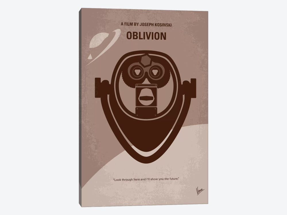 Oblivion Minimal Movie Poster by Chungkong 1-piece Canvas Artwork