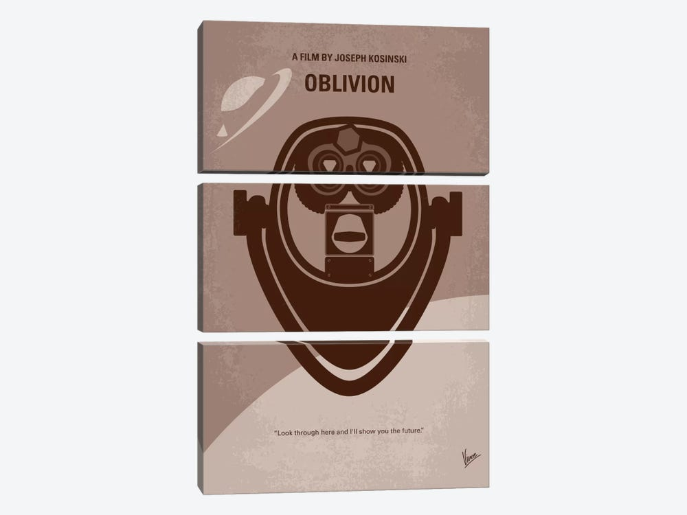 Oblivion Minimal Movie Poster by Chungkong 3-piece Canvas Artwork